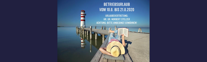 Betriebsurlaub Eye Factory Wien 10.8. - 21.8.2020